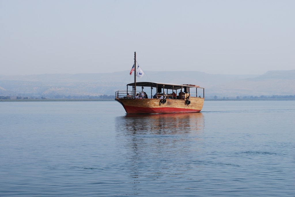 Boat on Sea of Galilee, Israel