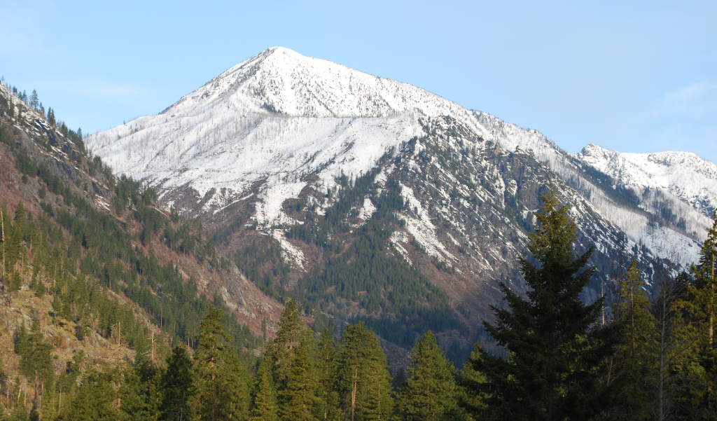 Mountain Peak with Snow, Leavenworth, Washington