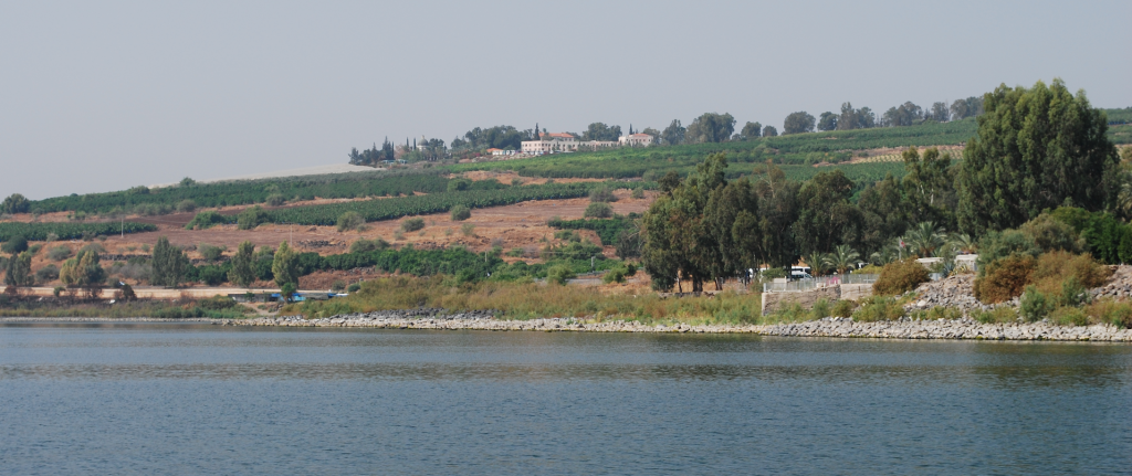 The Lord's Prayer given within the Sermon on Mount maybe given on the west side of the Sea of Galilee