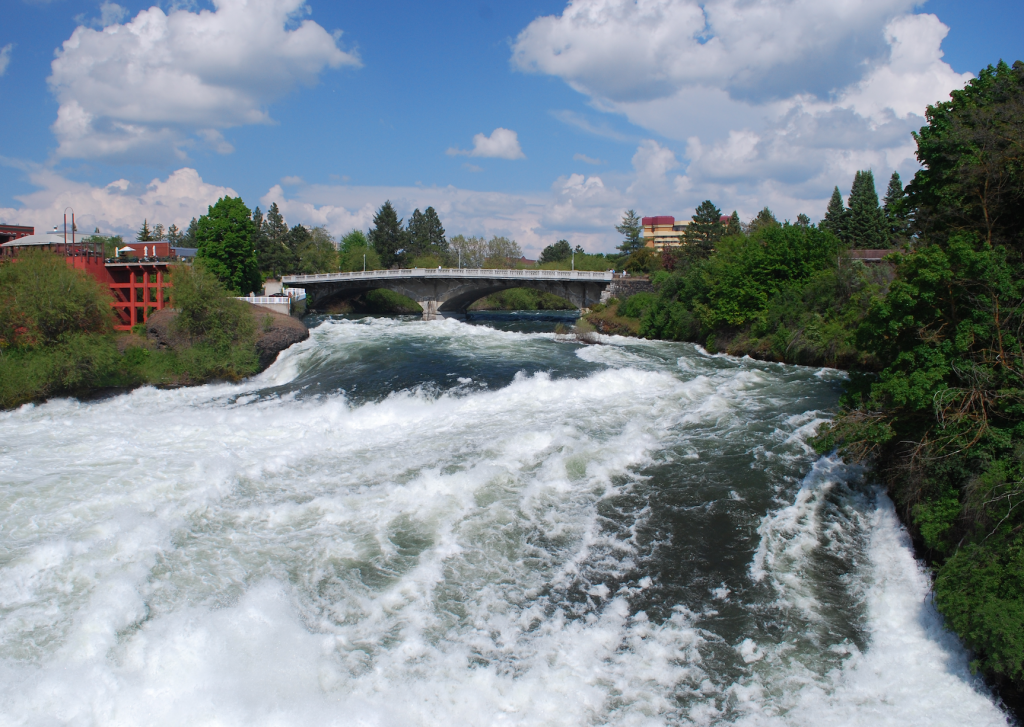 Spokane River near Downtown