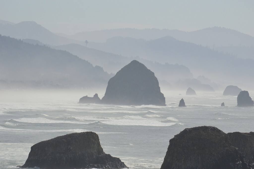 Cannon Beach, Oregon from Ecola Park