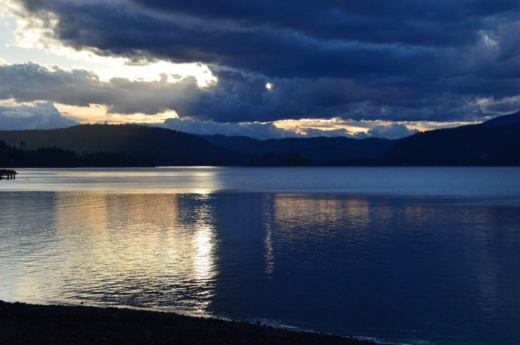 Lake Pend Oreille at Sandpoint, Idaho - Sunset