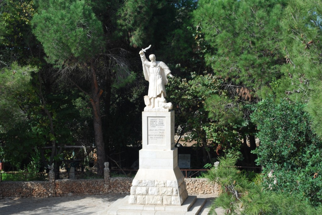Statue of Elijah on Mount Carmel
