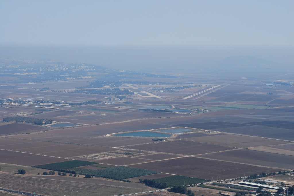 Jezreel Valley north of Mount Carmel where Elijah Prayed in Israel