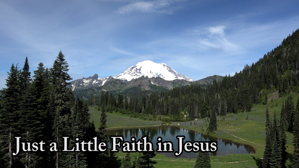 Just a Little Faith in Jesus - Be Encouraged - Don't Let Depression Reign